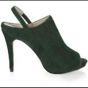 White House Black Market Ariella Green Suede heels